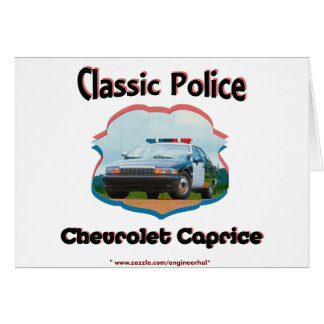 Police Car Chevrolet Caprice Classic Card