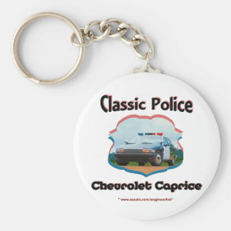 Police Car Chevrolet Caprice Classic Basic Round Button Keychain