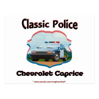 Police Car Chevrolet Caprice Classic Postcard