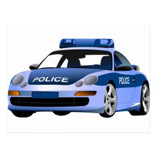 police car city state serve protect patrol hyway postcard
