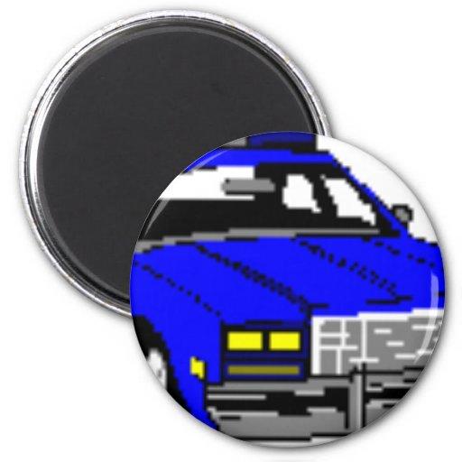 POLICE CAR DESIGN 2 INCH ROUND MAGNET