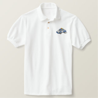 Police Car Embroidered Polo Shirt