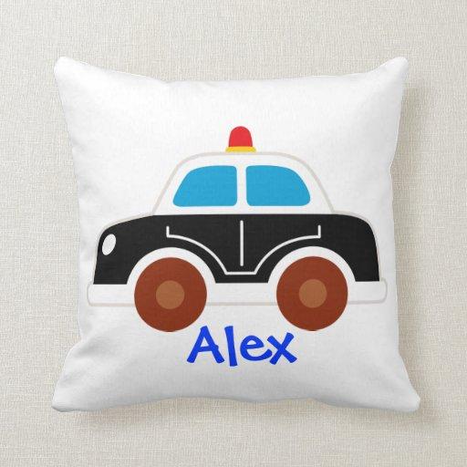 police car fire truck pillow