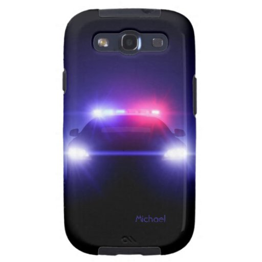 Police Car Full Lights Blinking  Samsung Galaxy S3 Samsung Galaxy SIII Covers