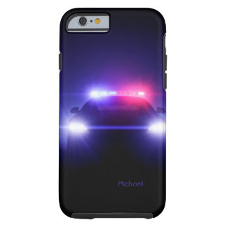 Police Car Full Lights Blinking Tough iPhone 6 Case