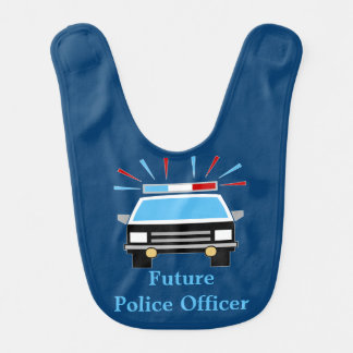 Police Car | Future Police Officer | Personalized Bib