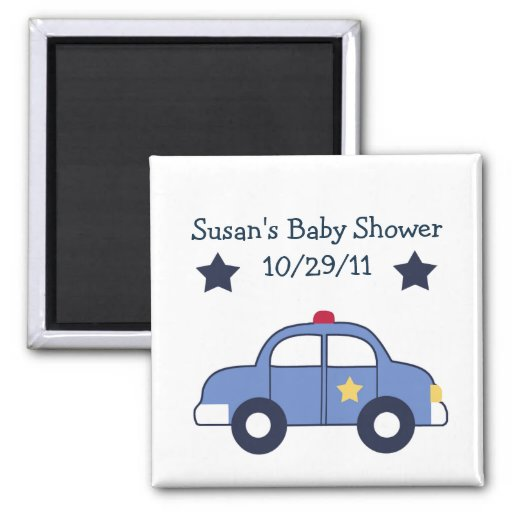 Police Car/Hero Magnet/Keepsake/Party Favor Magnet