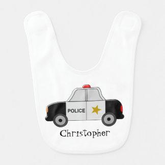 Police Car Just Add Name Bibs