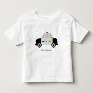 Police Car Just Add Name Toddler T-shirt
