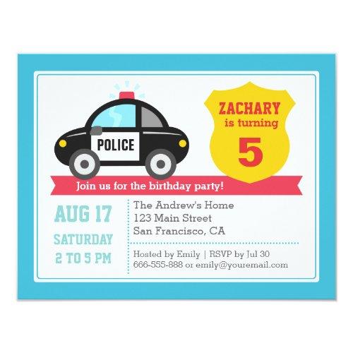 Popular 25 Police Birthday Party Invitations – Boys Birthday Party Invitations