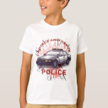 Police Car kids t-shirt