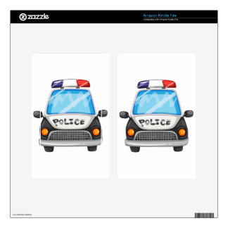 Police car kindle fire decal