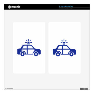 Police car kindle fire decals