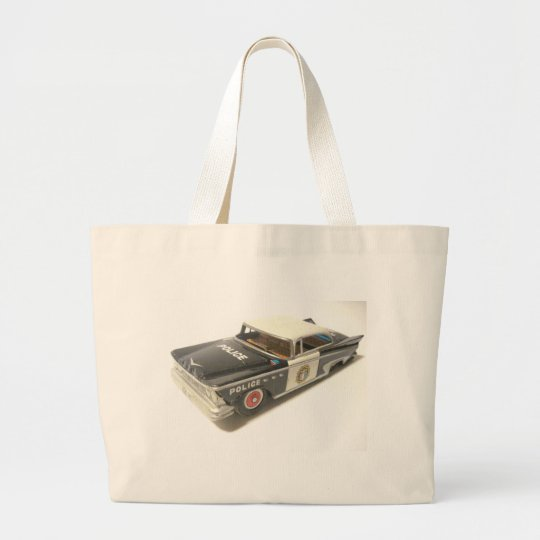 Police Car Large Tote Bag