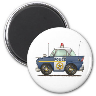 Police Car Law Enforcement 2 Inch Round Magnet