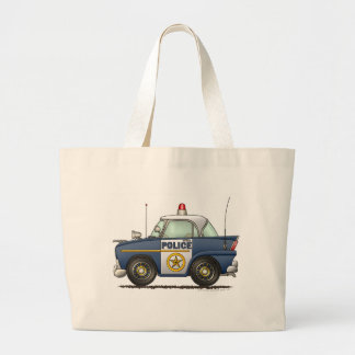 Police Car Law Enforcement Large Tote Bag
