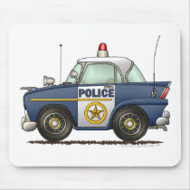 Police Car Law Enforcement Mouse Pad