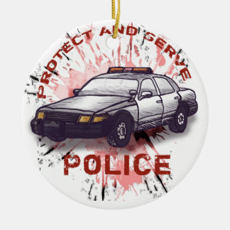 Police Car Christmas Tree Ornament