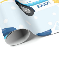 Police car pattern fun Party wrapping paper
