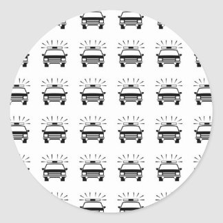 Police Car Pattern Stickers