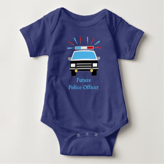 Police Car | Personalized | Future Police Officer Baby Bodysuit