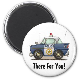 Police Car Police Cruiser Cop Car Round Magnet