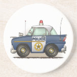 "Police Car Police Crusier Cop Car Coaster<br><div class=""desc"">This is one of many fire police EMS gifts featuring fire police and EMS vehicle images by artist, Richard Neuman. Every piece of emergency equipment is drawn in high detail yet always has a touch of whimsy. His unique work is in homes and offices in every state and around the...</div>"