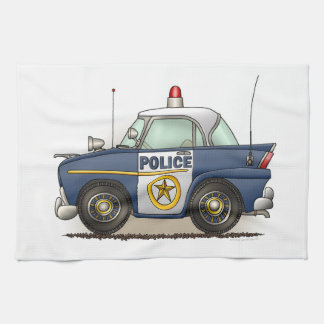 Police Car Police Crusier Cop Car Hand Towel