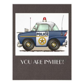 Police Car Police Crusier Cop Car Personalized Invites