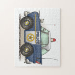 """Police Car Police Crusier Cop Car Jigsaw Puzzle<br><div class=""""desc"""">This is one of many fire police EMS gifts featuring fire police and EMS vehicle images by artist, Richard Neuman. Every piece of emergency equipment is drawn in high detail yet always has a touch of whimsy. His unique work is in homes and offices in every state and around the...</div>"""