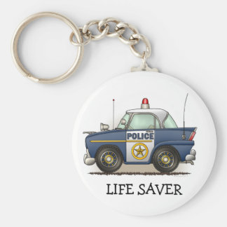 Police Car Police Crusier Cop Car Keychain LS
