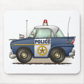 Police Car Police Crusier Cop Car Mouse Pad