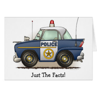 Police Car Police Crusier Cop Car Note Card