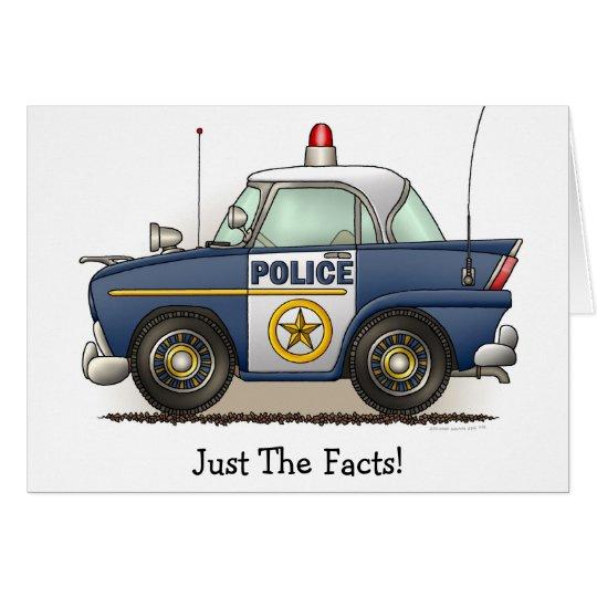 Police Car Police Crusier Cop Car Note Card