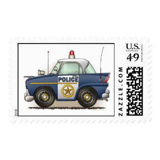 Police Car Police Crusier Cop Car Postage Stamp