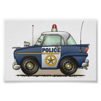 Police Car Police Crusier Cop Car Poster