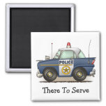 Police Car Police Crusier Cop Car Square Magnet