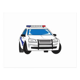 POLICE CAR POSTCARD