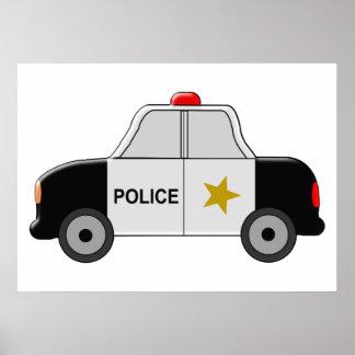 Police Car Poster