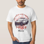 Police Car Protect T-Shirt