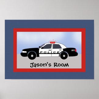 Police Car Rescue Vehicle Kids Room Print custom
