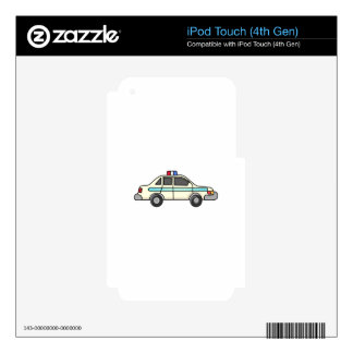 POLICE CAR iPod TOUCH 4G SKIN