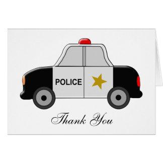 Police Car Thank You Card