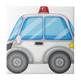 Police car small square tile
