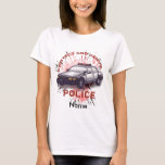 Police Car Women's custom name Basic T-Shirt