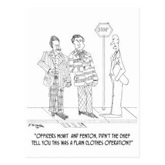 Police Cartoon 0271 Postcard