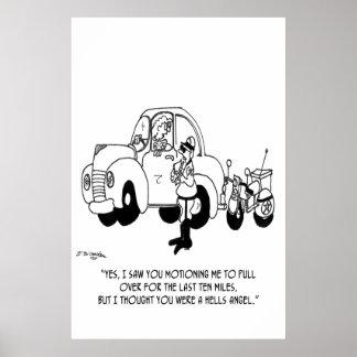 Police Cartoon 6202 Poster