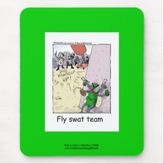 Police Cartoon Fly Swat Team On Quality Mouse Pad Mousepads