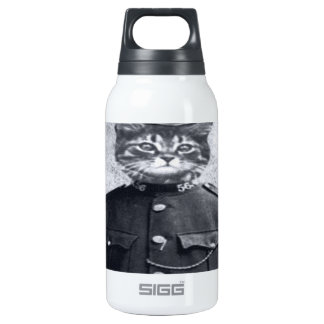 Police Cat Insulated Water Bottle