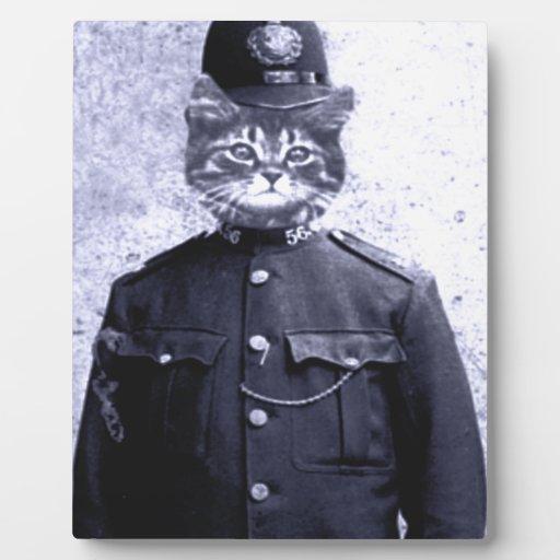 Police Cat Plaque